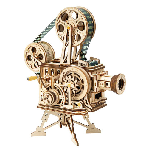 Vitascope Hand Crank Mechanical Wooden Model | Rokr