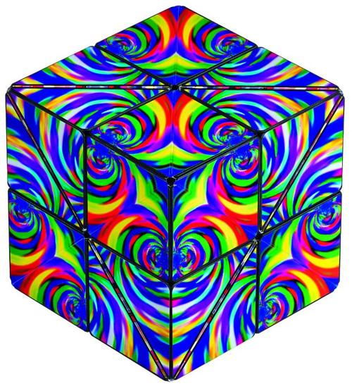 "Geometric Shape Shifting Magnetic Transformation Cube ""Confetti"" | Shashibo"