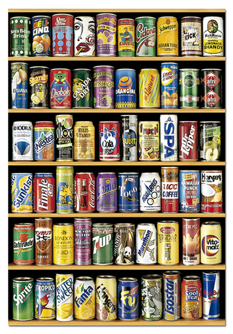 Soft Drink Cans 1500 Piece Jigsaw Puzzle | Educa