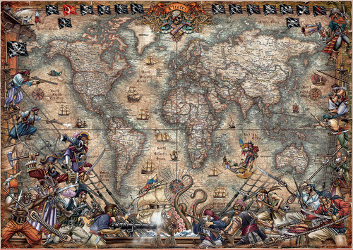 Pirates Map 2000 Piece Jigsaw Puzzle | Educa