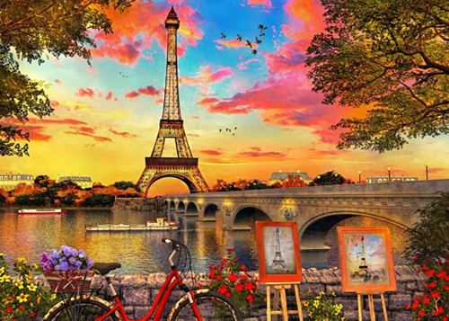 Sunset in Paris 3000 Pieces   Educa