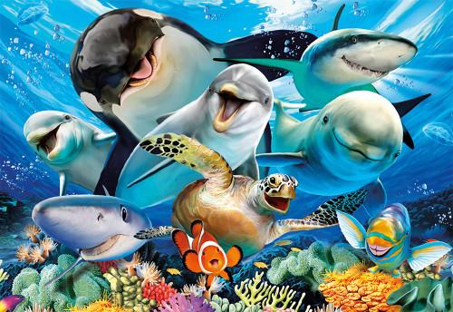 Underwater Selfie 500 Piece Jigsaw Puzzle | Educa