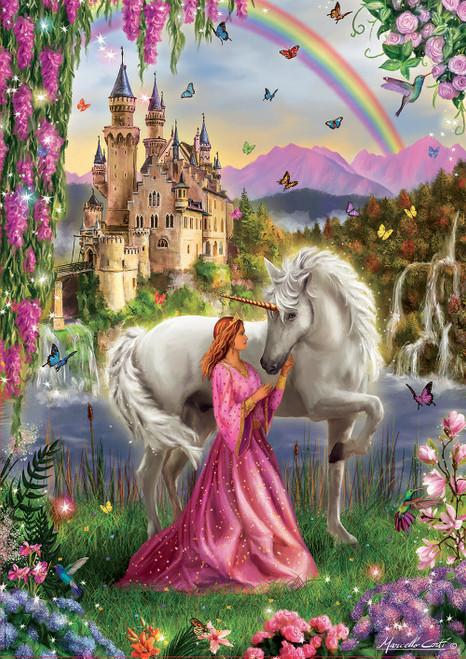 Fairy & Unicorn 500 Piece Jigsaw Puzzle   Educa