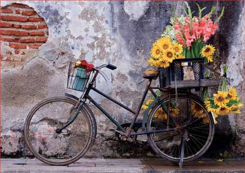 Bicycle with Flowers 500 Piece Jigsaw Puzzle | Educa