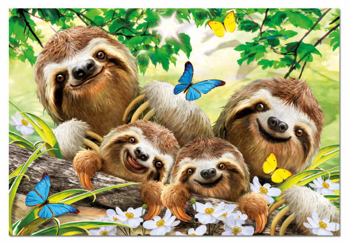 Sloth Family Selfie 500 Piece Jigsaw Puzzle | Educa