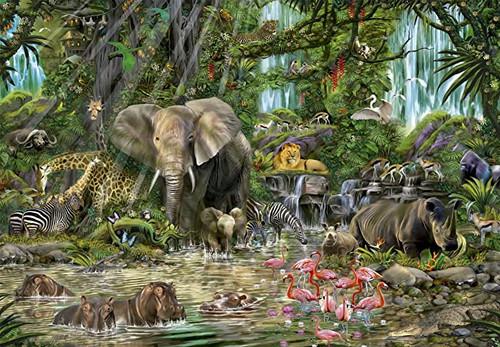 African Jungle 2000 Piece Jigsaw Puzzle | Educa