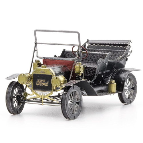 1908 Ford Model T Dark Green Metal Earth Model