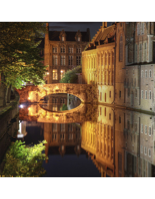 Canal in Bruges 125 Piece Small Wooden Jigsaw Puzzle | Zen Puzzles