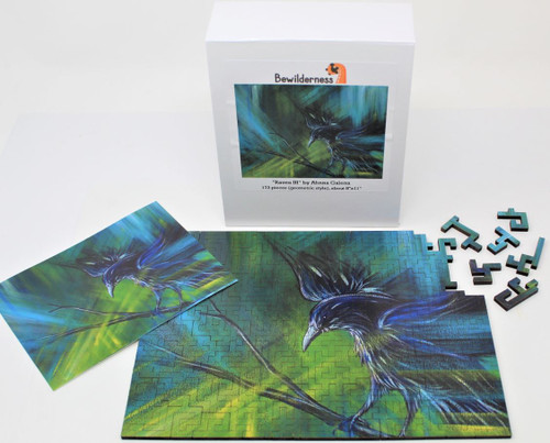 Raven III 173 Piece *Geometric Cut* Wooden Jigsaw Puzzle | Bewilderness
