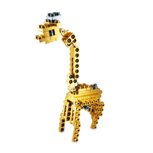 Wild Animal Series - Giraffe - Metal Designer Building Blocks | 63pcs | Metomics