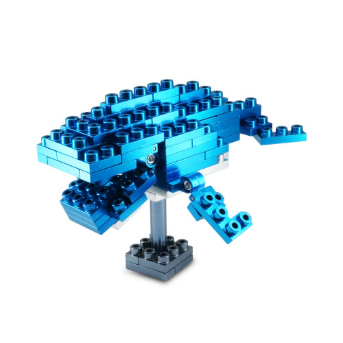 Wild Animal Series - Blue Whale - Metal Designer Building Blocks | 73pcs | Metomics