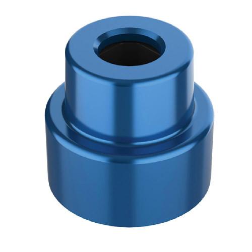 1x1 Round Azure Blue *Quantity 50* Metal Building Blocks | Metomics