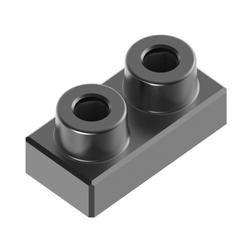1x2 Plate Charcoal Black *Quantity 60* Metal Designer Building Blocks | Metomics