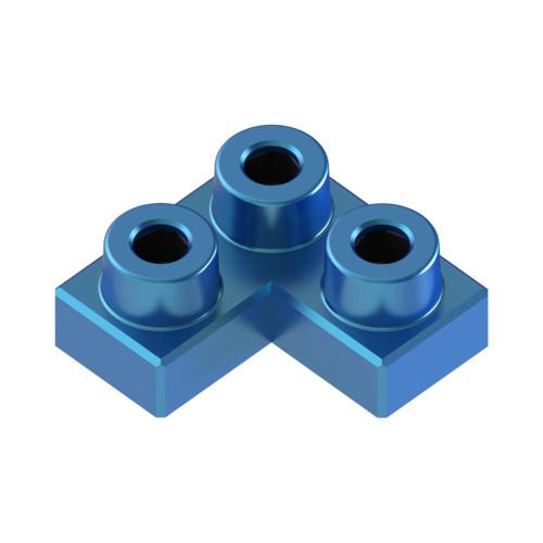 2x2 Corner Azure Blue *Quantity 55* Metal Designer Building Blocks | Metomics