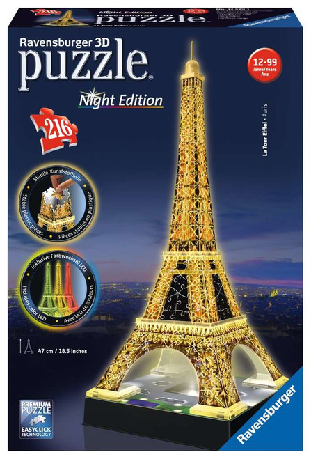 Eiffel Tower by Night, 216 Piece *3D Jigsaw Puzzle* | Ravensburger
