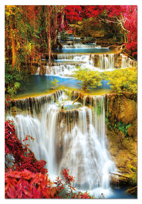 Waterfall in Deep Forest 1000 Piece Jigsaw Puzzle | Educa