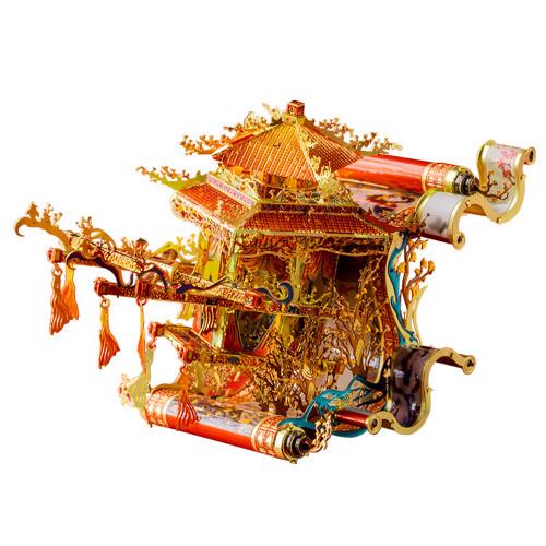Fairy Flower Fairy Sedan Red & Gold Metal Model Kit | MU Models