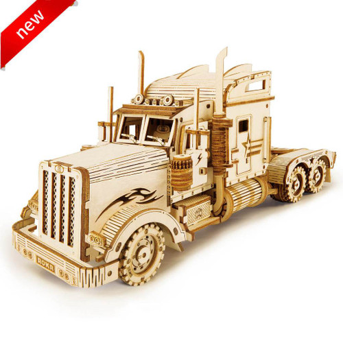 Heavy Truck Wooden Model Kit | Rokr