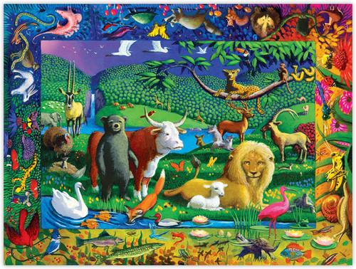 Peaceable Kingdom 500 Large Piece Jigsaw Puzzle | eeBoo