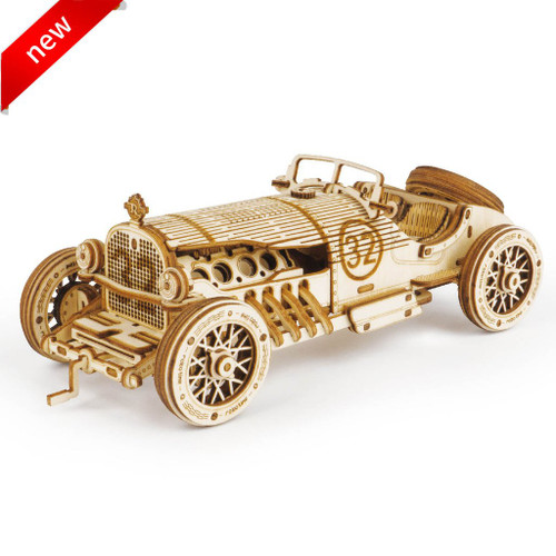 V8 Grand Prix Car Wooden Model Kit   Rokr
