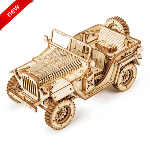 Army Jeep Wooden Model Kit | Rokr