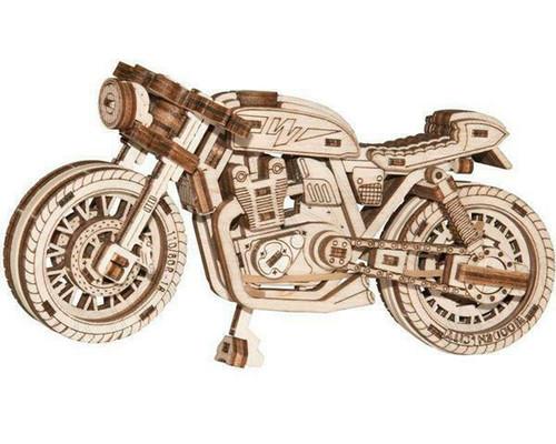 Café Racer Mechanical Wooden Model Kit   Wooden City