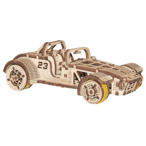 Roadster Car Mechanical Wooden Model Kit | Wooden City