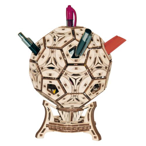 Football (Soccer) Pen Holder Mechanical Wooden Model Kit | Wooden City