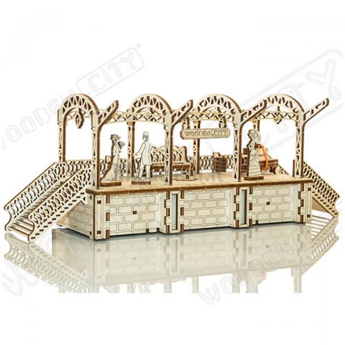 Railway Station Wooden Model Kit | Wooden City
