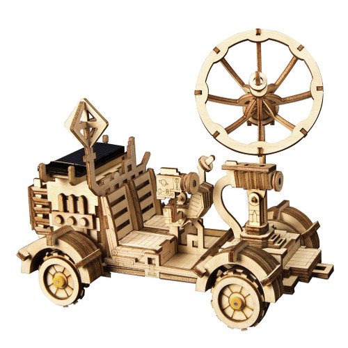 """Rambler"" *Solar Powered* Lunar Rover Moon Buggy Wooden Model Kit 