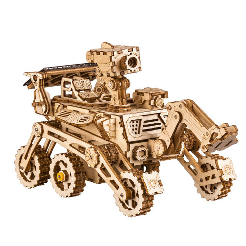 """Harbinger"" Curiosity *Solar Powered* Mars Rover Wooden Model Kit 