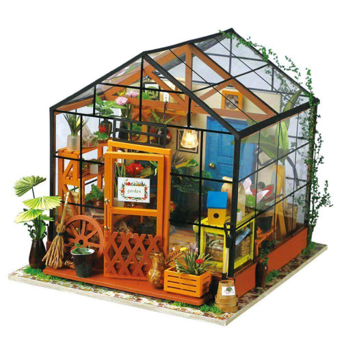 Cathy's Flower House *Build-Your-Own* Dollhouse Kit | Rolife
