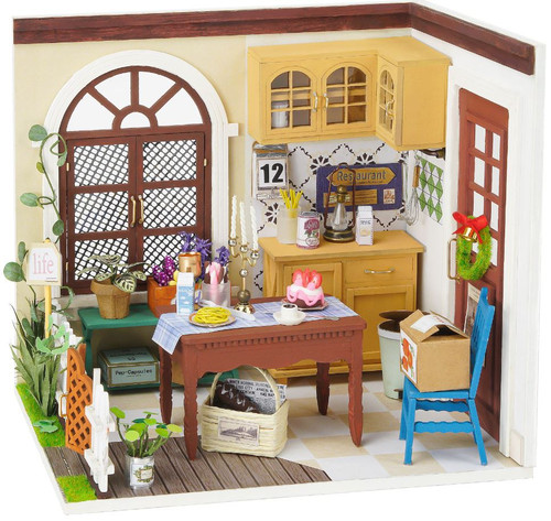Mrs. Charlie's Dining Room *Build-Your-Own* Dollhouse Kit | Rolife
