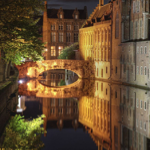 Canal in Bruges 50 Piece Teaser Wooden Jigsaw Puzzle | Zen Puzzles
