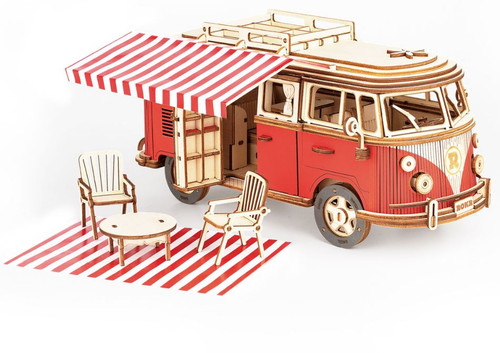 Camper Van Wooden Model Kit | Rokr