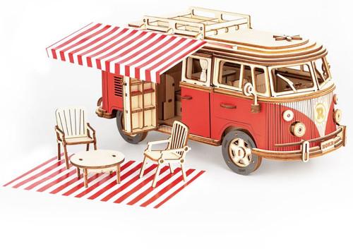 Camper Van Wooden Model Kit | Rokr