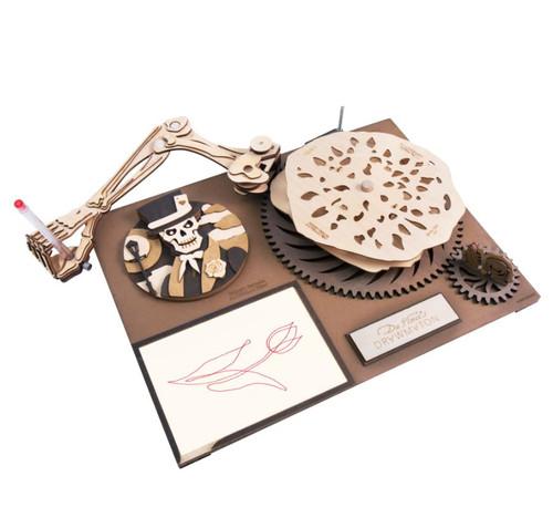 Da Vinci's Drawmaton - The Gambler - Mechanical Wooden Model Kit | Robotime Rokr