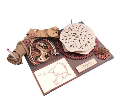 Da Vinci's Drawmaton - The Slayer - Mechanical Wooden Model Kit | Rokr