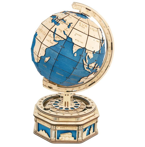 The Globe Deluxe Mechanical Wooden Model Kit | Rokr