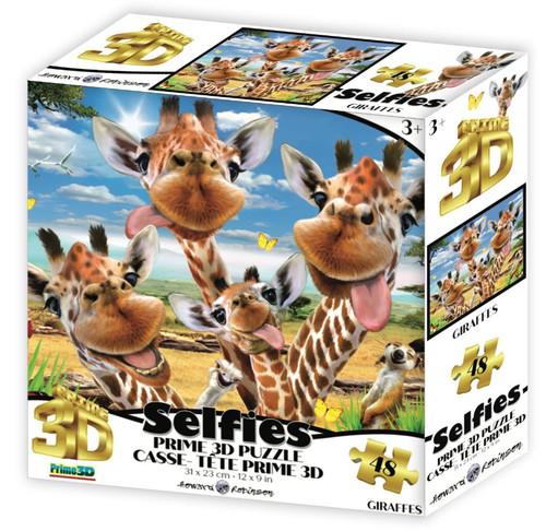 Giraffes Selfie 48 Piece *Lenticular 3D Effect* Jigsaw Puzzle   Prime3D