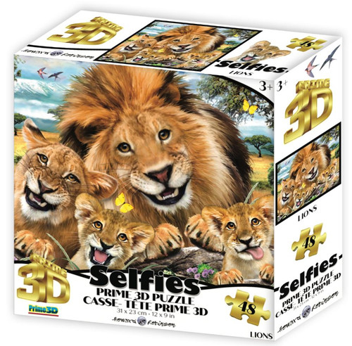 Lions Selfie 48 Piece *Lenticular 3D Effect* Jigsaw Puzzle   Prime3D