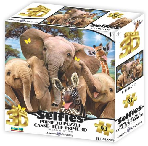 Elephants Selfie 63 Piece *Lenticular 3D Effect* Jigsaw Puzzle   Prime3D