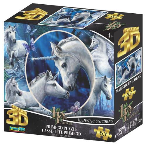 Majestic Unicorns 63 Piece *Lenticular 3D Effect* Jigsaw Puzzle   Prime3D