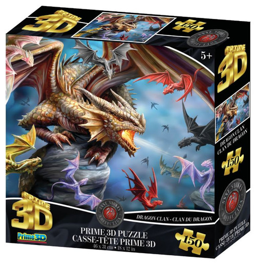 Dragon Clan 150 Piece *Lenticular 3D Effect* Jigsaw Puzzle | Prime3D