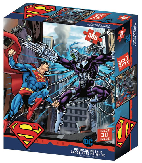 Superman Vs Electro 300 Piece *Lenticular 3D Effect* Jigsaw Puzzle | Prime3D