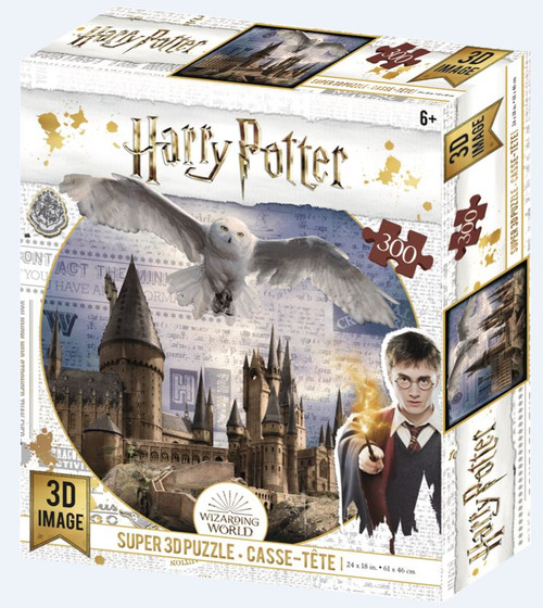 Hogwarts & Hedwig, Harry Potter, 300 Piece *Lenticular 3D Effect* Jigsaw Puzzle | Prime3D