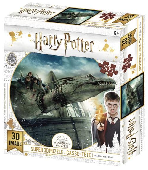 Gringott's Dragon, Harry Potter, 500 Piece *Lenticular 3D Effect* Jigsaw Puzzle | Prime3D
