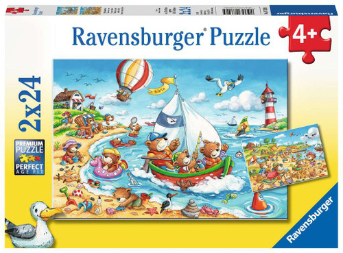 'Seaside Holiday' Two 24 Piece 3x2 Feet Floor Puzzles | Ravensburger