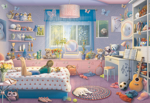 Sister's Space 200 XXL Oversized Pieces Jigsaw Puzzle | Ravensburger