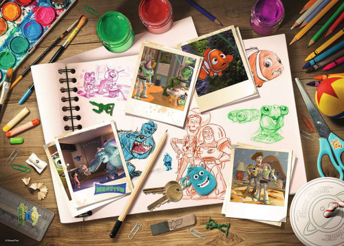 Disney Pixar Sketches, 1000 Piece Jigsaw Puzzle | Ravensburger